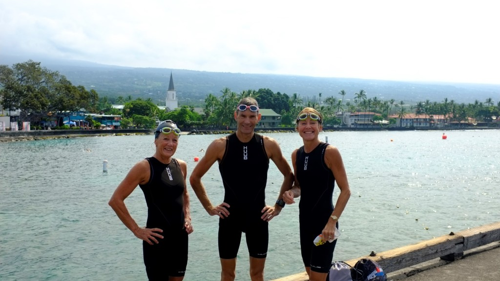 Toby Somerville, Nicola Somerville and Karen Short at Kona 2013